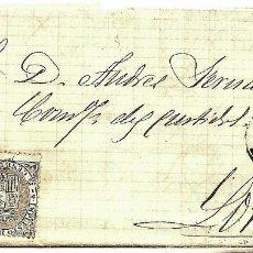 Sellos: ENVUELTA CIRCULADA DE CARTAGENA A LORCA (MURCIA) - IMPUESTO GUERRA Y COMUNICACIONES AÑO 1877. Lote 76887999