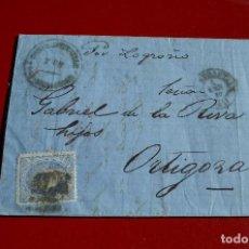 Sellos: CARTA SAN SEBASTIAN GUIPUZCOA A ORTIGOSA MATASELLO FECHADOR TIPO II HISTORIA POSTAL MATASELLOS . Lote 77606713
