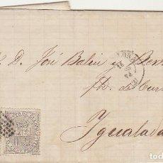 Sellos: SELLOS 133 Y 141 :BARCELONA A YGUALADA. 1874.. Lote 79104913
