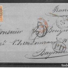 Sellos: EDIFIL 82. ENVUELTA DE MADRID A BAYONA. AGO-1866. CATALOGO 63 €. Lote 82190508