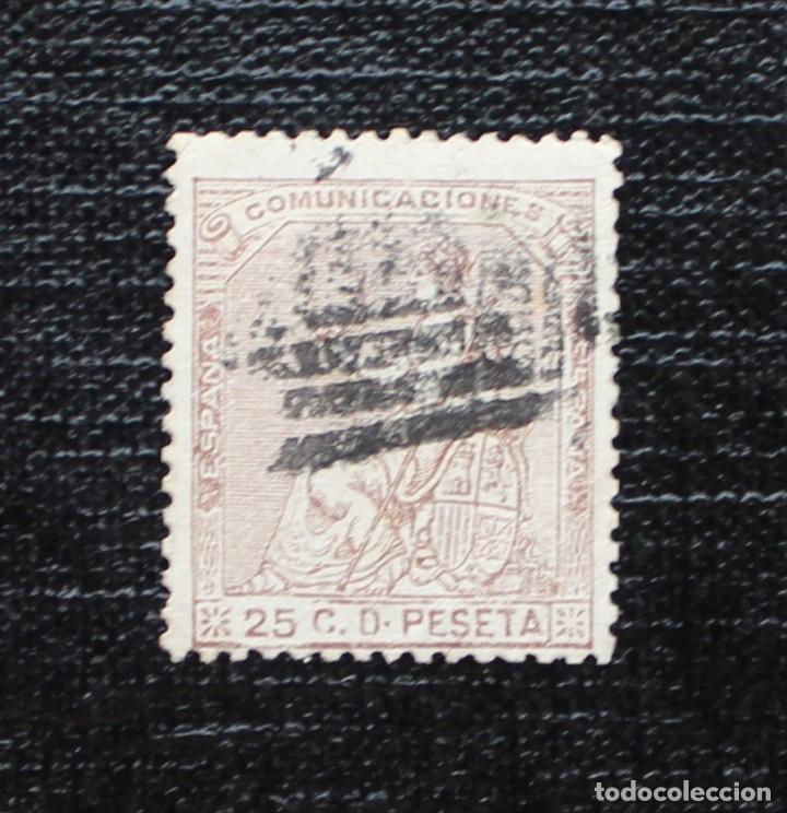 ESPAÑA 1873, I REPÚBLICA ALEGORÍA DE ESPAÑA, EDIFIL 135(O) (Sellos - España - Amadeo I y Primera República (1.870 a 1.874) - Usados)