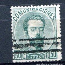 Sellos: EDIFIL 126. 50 CTS. AMADEO I . BARRADO.. Lote 88204332