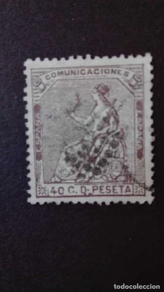 EDIFIL 136 USADO CENTRAJE DE LUJO 1873 (Sellos - España - Amadeo I y Primera República (1.870 a 1.874) - Usados)