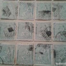 Sellos: LOTE 12 SELLOS AMADEO I REPUBLICA COMUNICACIONES 10 CENTIMOS. Lote 93676860