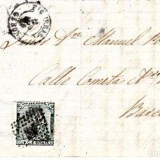 Sellos: CARTA ENTERA DE FIGUERES (1873) A BARCELONA CON SELLO NUM.133 MATASELLOS DE ROMBO DE PUNTOS. Lote 94450454