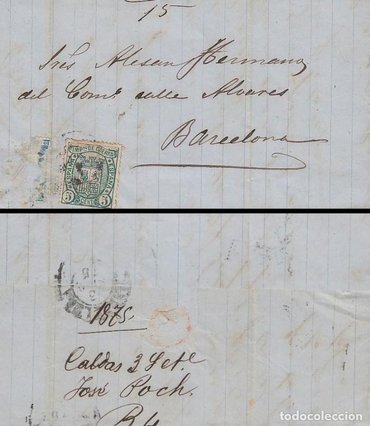 EDIFIL Nº 154 EN CARTA CIRCULADA A BARCELONA (Sellos - España - Amadeo I y Primera República (1.870 a 1.874) - Cartas)