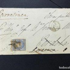 Sellos: ANTIGUO SOBRE CARTA DE JEREZ A ALORA MALAGA 1870 SELLO GOBIERNO PROVISIONAL. Lote 97028363