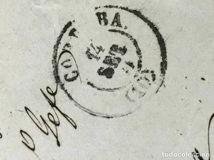 Sellos: ANTIGUO SOBRE CARTA DE CÓRDOBA A LUCENA, 1870 SELLO GOBIERNO PROVISIONAL - Foto 3 - 97028831