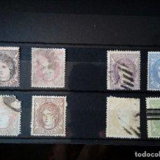 Sellos: LOTE 8 SELLOS ESPAÑA 1870 NUEVOS Y USADOS, EFIGIE ALEGÓRICA. Lote 97357399