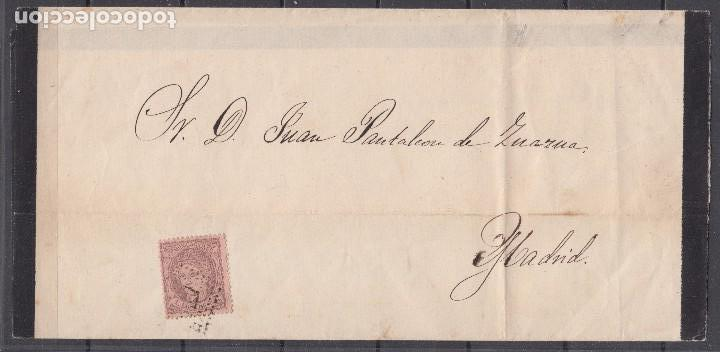 CORREO INTERIOR MADRID TARIFA DE IMPRESOS , EDIFIL Nº 102 , 1 MILÉSIMA , (Sellos - España - Amadeo I y Primera República (1.870 a 1.874) - Cartas)