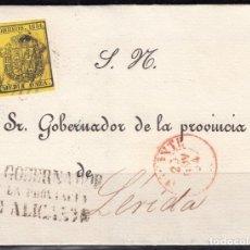 Sellos: ALICANTE A LÉRIDA , MARCA - EL GOBERNADOR DE LA PROVINCIA DE ALICANTE - EDIFIL Nº 28. Lote 99766335
