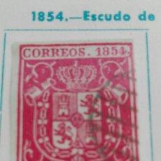 Sellos: ESCUDO DE ESPAÑA 1854 6 CM CATÁLOGO NÚMERO 24. Lote 100682502