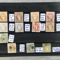 Sellos: LOTE X 12 SELLOS. SERIE REGENCIA DEL DUQUE DE LA TORRE 1-ENERO-1870 GOBIERNO PROVISIONAL. Lote 101059030