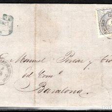 Sellos: CARTA ENTERA CON NUM.107 DE JOAQUIN BONET DE ROSES (1870) MATASELLOS CASTELLO D'EMPURIES. Lote 101195931