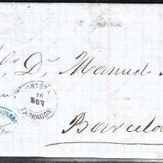 Sellos: CARTA ENTERA CON NUM.133 DE FERNANDO NAVARRO EN CHERTA (XERTA) -TORTOSA- --1873--MAT..TORTOSA. Lote 101197771