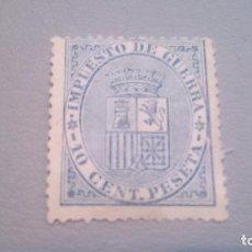 Sellos: 1874 - I REPUBLICA - EDIFIL 142 - MH* -CENTRADO - NUEVO CON FIJASELLOS - ESCUDO DE ESPAÑA -. Lote 102515471