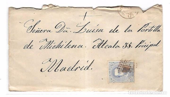 SOBRE CON CARTA. DE SEVILLA A MADRID. 1873 (Sellos - España - Amadeo I y Primera República (1.870 a 1.874) - Cartas)