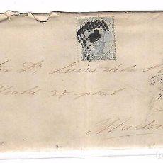 Sellos: SOBRE CON CARTA. DE SANTANDER A MADRID. 1873. Lote 102912175