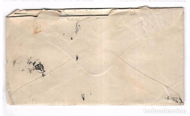 Sellos: SOBRE CON CARTA. DE SANTANDER A MADRID. 1873 - Foto 2 - 102912175