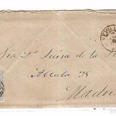Sellos: SOBRE CON CARTA. DE SEVILLA A MADRID. 1873. Lote 102912379