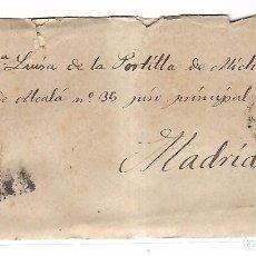 Sellos: SOBRE CON CARTA. DE SAN CLEMENTE A MADRID. 1873. Lote 102912847