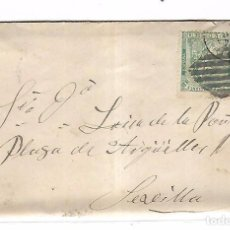 Sellos: SOBRE CON CARTA. DE MADRID A SEVILLA. 1873. Lote 102913075