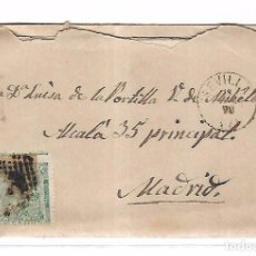 Sellos: SOBRE CON CARTA. DE SEVILLA A MADRID. 1873. Lote 102913263