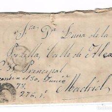 Sellos: SOBRE CON CARTA. DE SAN CLEMENTE A MADRID. 1873. Lote 102913947