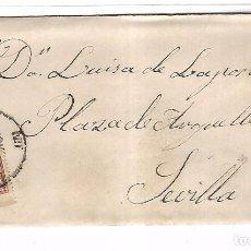 Sellos: SOBRE CON CARTA. DE SEVILLA A SEVILLA. 1876. Lote 102922183