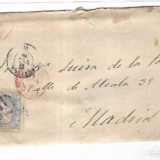 Sellos: SOBRE CON CARTA. DE SEVILLA A MADRID. 1870. Lote 102922427