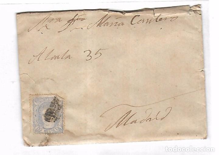 CARTA. DE SEVILLA A MADRID. 1872 (Sellos - España - Amadeo I y Primera República (1.870 a 1.874) - Cartas)