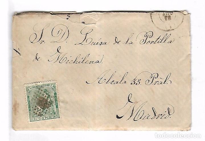 CARTA. DE SANTA PAULA A MADRID. 1873 (Sellos - España - Amadeo I y Primera República (1.870 a 1.874) - Cartas)