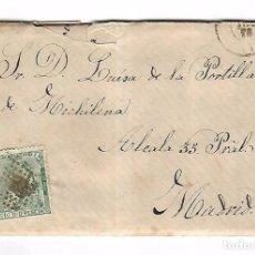 Sellos: CARTA. DE SANTA PAULA A MADRID. 1873. Lote 102923555