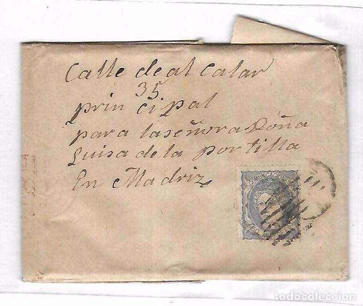 CARTA. DE SANTIAGO A MADRID. NO FECHADA. SELLO AMADEO I (Sellos - España - Amadeo I y Primera República (1.870 a 1.874) - Cartas)