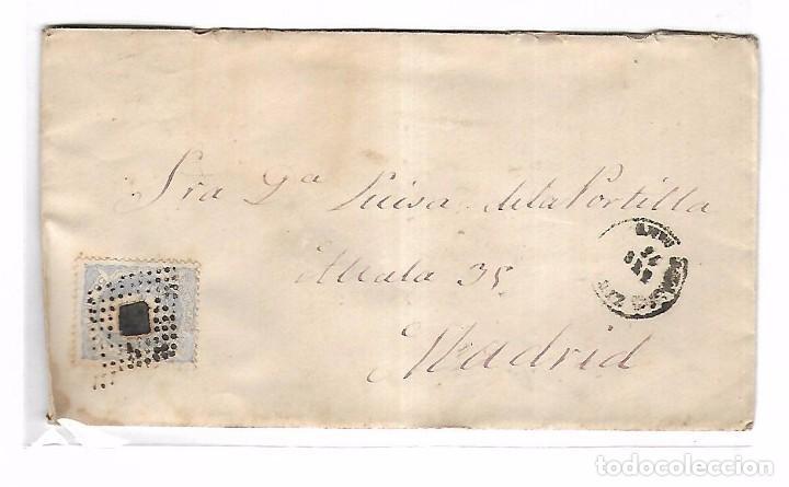 CARTA. DE CHICLANA A MADRID. 1872 (Sellos - España - Amadeo I y Primera República (1.870 a 1.874) - Cartas)