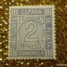 Sellos: SELLO - ESPAÑA - CORREOS - EDIFIL 116 - AMADEO I - 1872 - 2 C - CÉNTIMOS - GRIS - NUEVO -. Lote 111066647