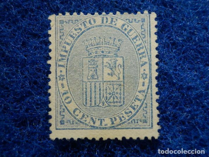 SELLO - ESPAÑA - CORREOS - EDIFIL 142 - I REPÚBLICA - 1874 -IMPUESTO DE GUERRA - 10 CENT. AZUL (Sellos - España - Amadeo I y Primera República (1.870 a 1.874) - Nuevos)
