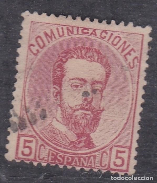 Nº 118 AMADEO CINCO CENTIMOS MATASELLADO (Sellos - España - Amadeo I y Primera República (1.870 a 1.874) - Usados)