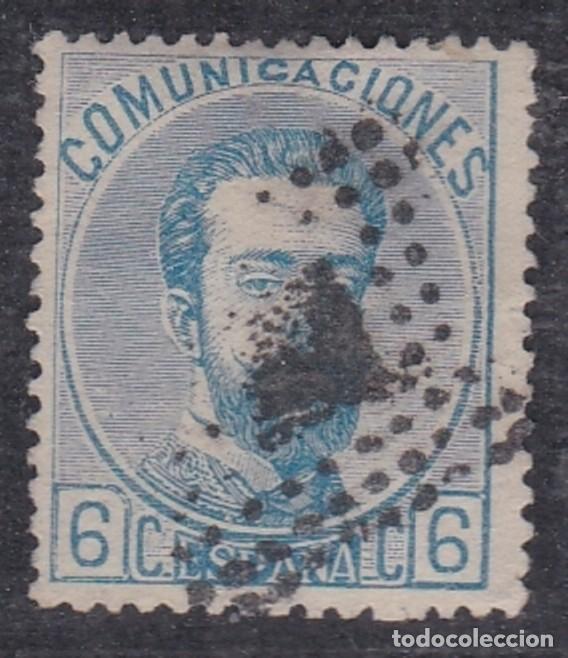 Nº 119 AMADEO SEIS CENTIMOS MATASELLADO (Sellos - España - Amadeo I y Primera República (1.870 a 1.874) - Usados)