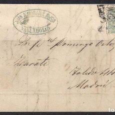 Sellos: CARTA VALLADOLID A MADRID - 23 DE MARZO DE 1874. Lote 111808299
