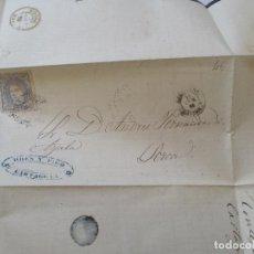 Sellos: ANTIGUA CARTA MANUSCRITA, LLEVA SELLO.- LORCA.-1870. Lote 111877051
