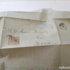 Sellos: ANTIGUA CARTA MANUSCRITA, LLEVA SELLO.- LORCA.-1869. Lote 111877139