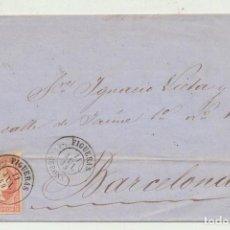 Sellos: CARTA DE FIGUERAS A BARCELONA DEL 11 JUL. 1859. CON EDIFIL 48, MATA-. Lote 116323984