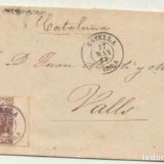 Sellos: CARTA DE ESTELLA A VALLS DEL 27 MAY 1863. CON EDIFIL 58, MATASELLA-. Lote 116323996