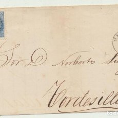 Sellos: CARTA DE MADRID A TORDESILLAS DEL 14 MAR. 1867. CON EDIFIL 88, MA-. Lote 116324008