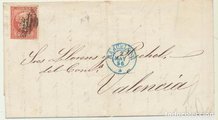 CARTA DE BARCELONA A VALENCIA DEL 2 MAY. 1856. CON EDIFIL 48, MA- (Sellos - España - Amadeo I y Primera República (1.870 a 1.874) - Cartas)