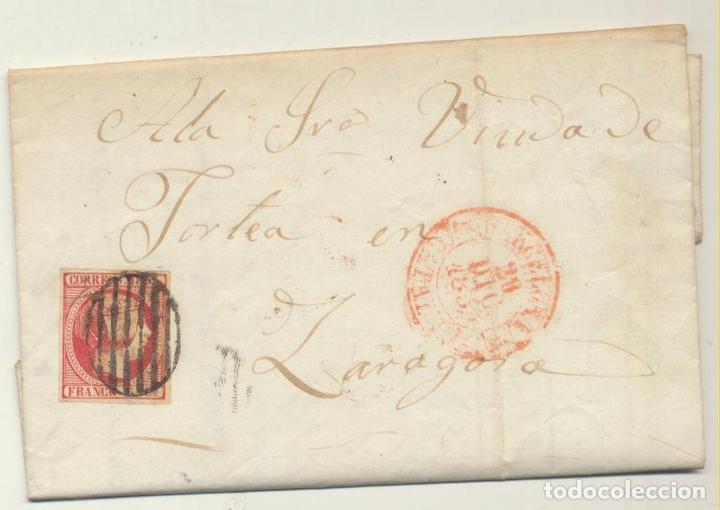 CARTA DE BARCELONA A ZARAGOZA DEL 28 DIC. 1853. CON EDIFIL 17 - MA (Sellos - España - Amadeo I y Primera República (1.870 a 1.874) - Cartas)