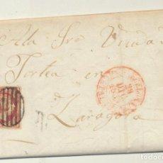 Sellos: CARTA DE BARCELONA A ZARAGOZA DEL 28 DIC. 1853. CON EDIFIL 17 - MA. Lote 116324044