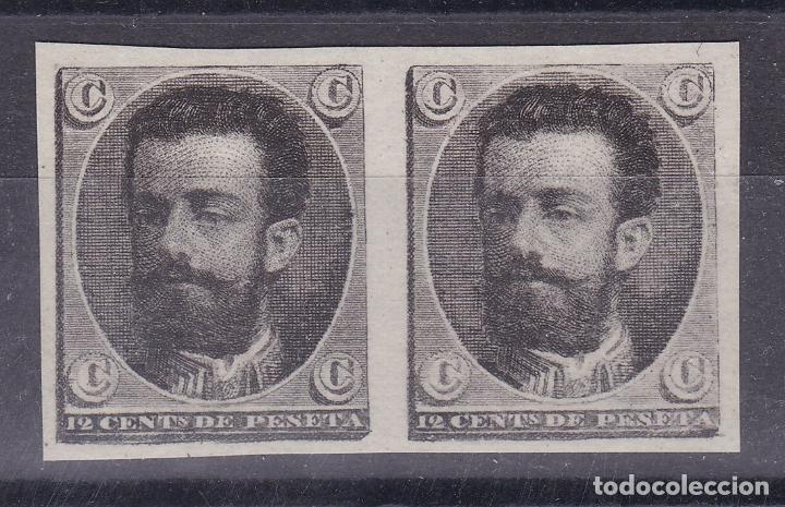 CL3-41- AMADEO I PAREJA PRUEBAS SELLO NO ADOPTADO (*) SIN GOMA (Sellos - España - Amadeo I y Primera República (1.870 a 1.874) - Nuevos)