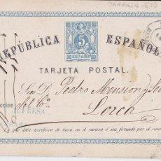 Sellos: CM2-29-ENTERO POSTAL TARRASA (BARCELONA)-LORCA (MURCIA) 1875. Lote 118386739